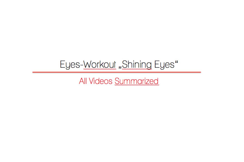 "Eyes-Workout ""Shining Eyes"""