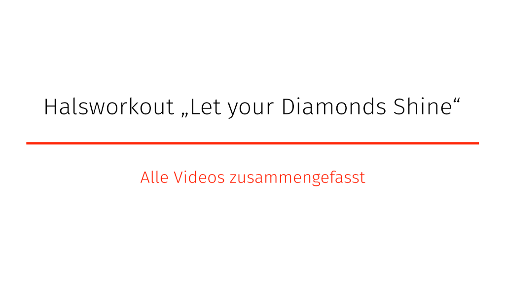"Halsworkout – ""Let Your Diamonds Shine"""